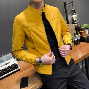 High Quality Autumn Jacket Men Fashion 2021 Slim Fit Mens Casual Jacket Solid All Match Thin Mens Windbreaker Jackets and Coats